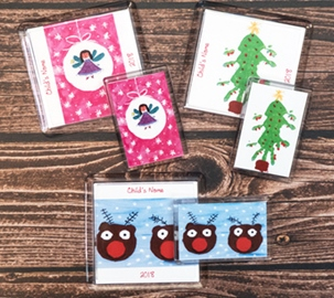 christmas coasters and magnets